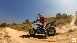 2015 Benelli TNT 600 GT in action
