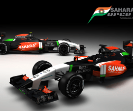 Force India F1 cars