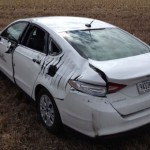 Plane hits a Ford Fusion after an engine failure