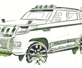 Mahindra TUV 300 Sketches