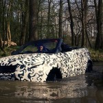 Convertible Range Rover Evoque goes off-road