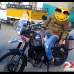 Royal Enfield Himalayan spotted with accessories