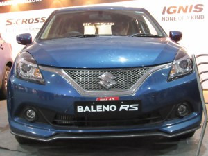 Baleno RS Front View Massive V shaped Grille