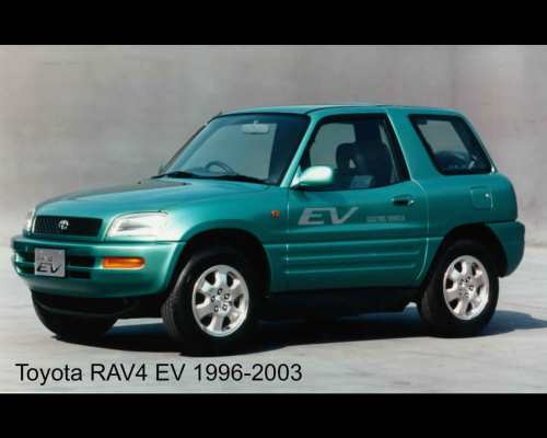 small resolution of toyota rav 4 electric car 2011 and 1996 green rav4