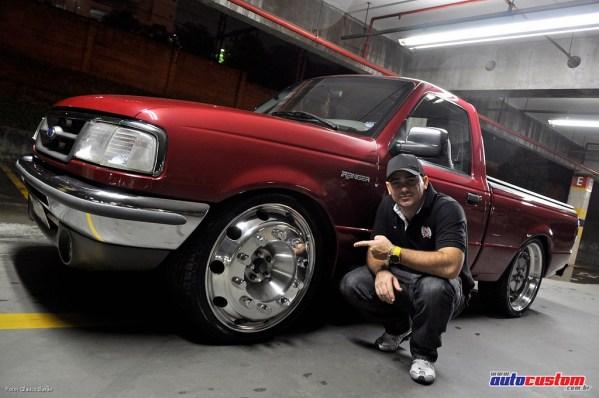 """Ford Ranger XL'X 96: Rodas aro 22,5"""" de caminhão"""