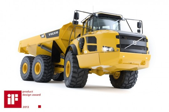 O caminhão Volvo A40F recebe prêmio internacional de design iF colocando os veículos customizados de fábrica desse setor em um novo conceito