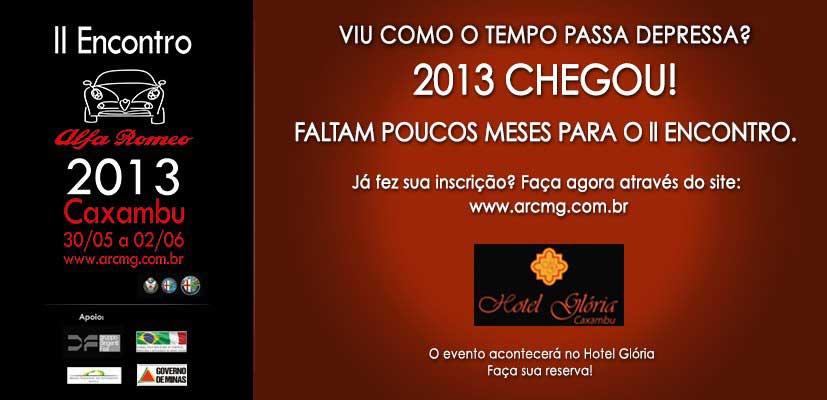 Encontro Alfa Romeo Caxambu - Minas Gerais - 2a edição 2013 - Convite