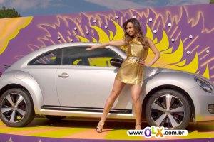 OLX Sabrina Sato vende New Beetle (Fusca) prata - classificado-gratis