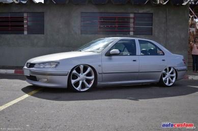 Peugeot 406 prata rebaixado rodas Infiniti
