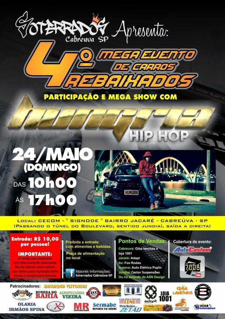 Mega Evento de Carros Rebaixados & Show Hungria Hip Hop