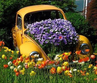 Móveis baseados em automóveis - Fusca Jardim Flores