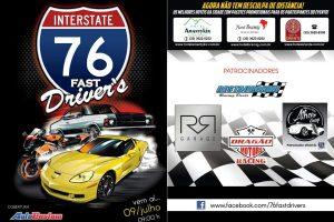 Flyer oficial do 76 Fast Drivers - Dia 9 de julho esperamos por vocês!