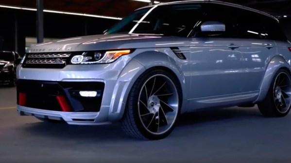 Range Rover estilosa! Rodas grandes e rebaixado