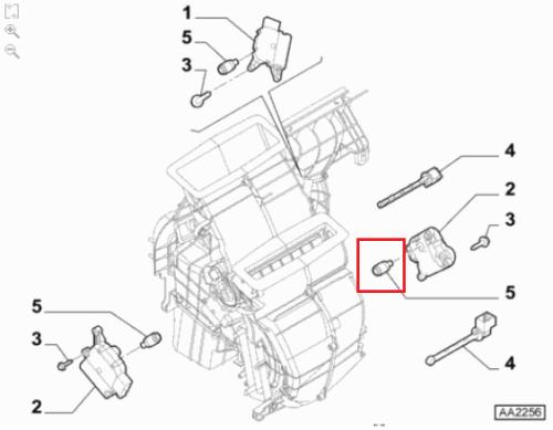 Dźwigni tulejki klimatyzacji Fiat Bravo II Stilo 500