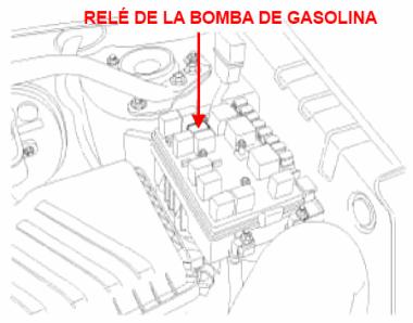 Relé de la bomba de gasolina del Kia Sportage