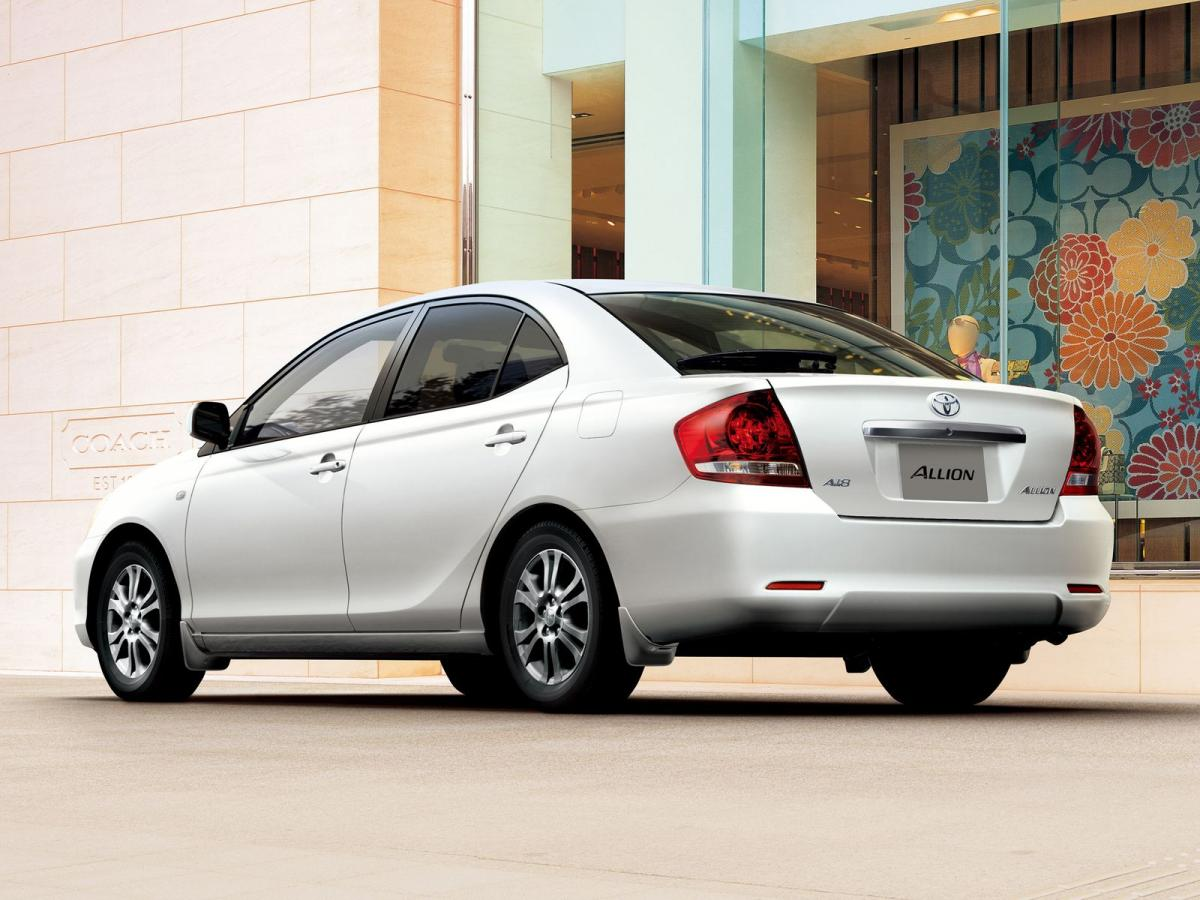 Toyota Allion technical specifications and fuel economy