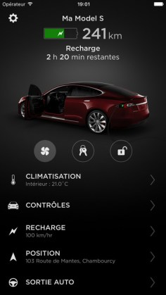 Application Tesla iOS
