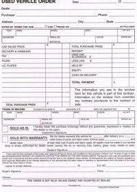 Bill of Sale Form #auto039-usd veh | AutoDealerSupplies ...