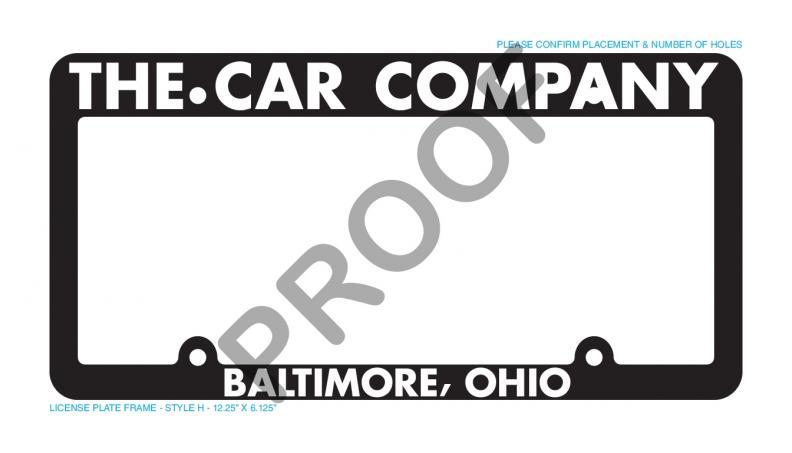 1000 custom raised white letter license plate frames for