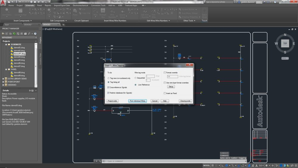 medium resolution of the autocad electrical toolset includes wire numbering and component tagging
