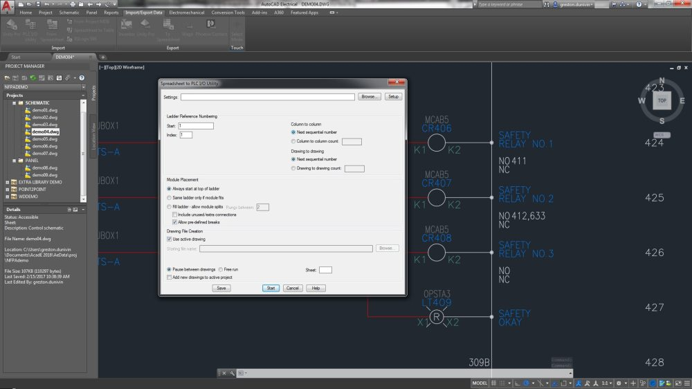 medium resolution of the autocad electrical toolset includes plc i o features