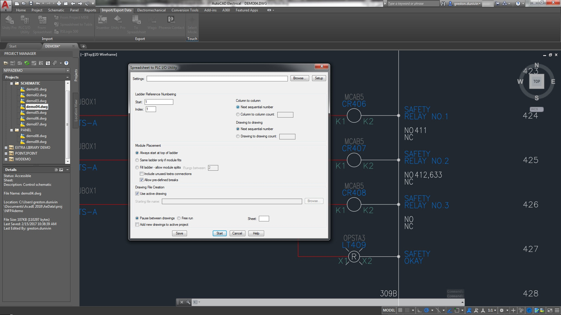 hight resolution of the autocad electrical toolset includes plc i o features