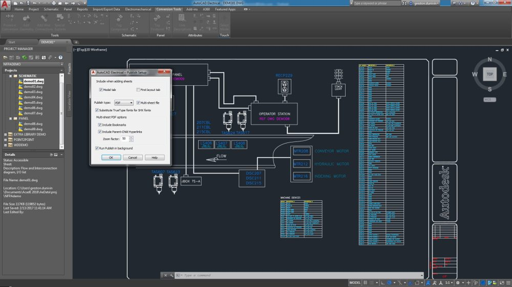 medium resolution of the autocad electrical toolset includes pdf publishing