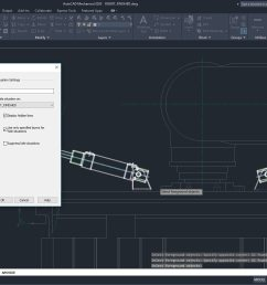 the autocad mechanical toolset automatically creates hidden lines when you specify which objects overlap the others [ 1916 x 1038 Pixel ]