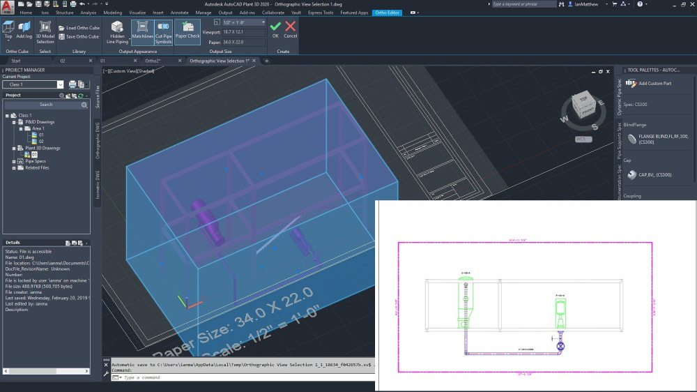 medium resolution of create piping orthographic drawings