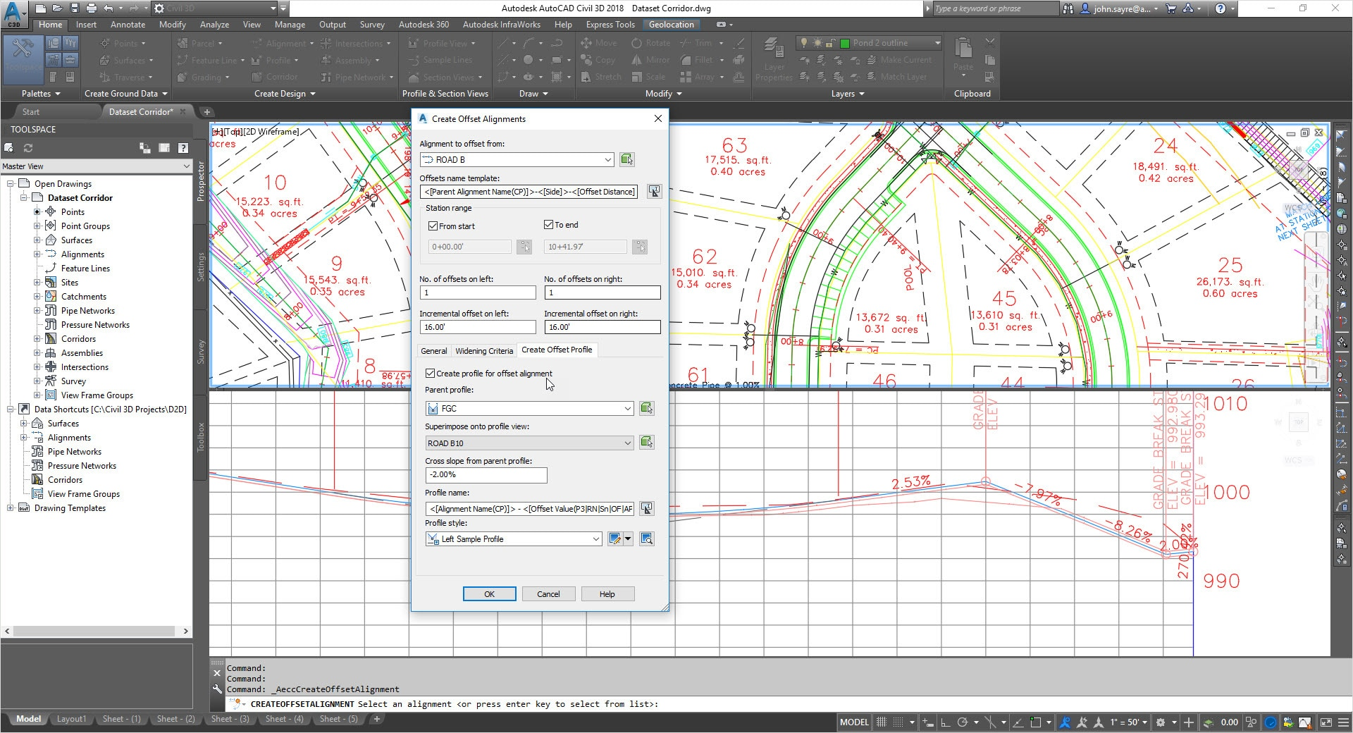 hight resolution of dynamic offset profiles