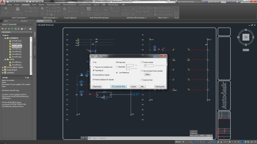 small resolution of the autocad electrical toolset includes wire numbering and component tagging