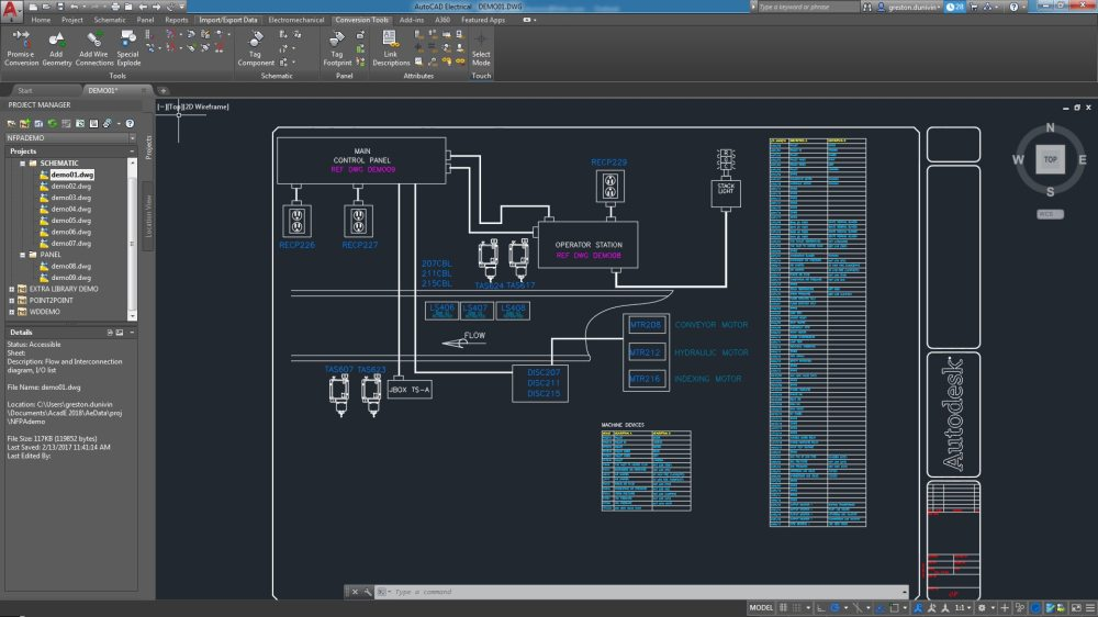 medium resolution of autocad electrical toolset electrical design software rh autodesk com control panel wiring diagram simplified control panel electrical wiring basics