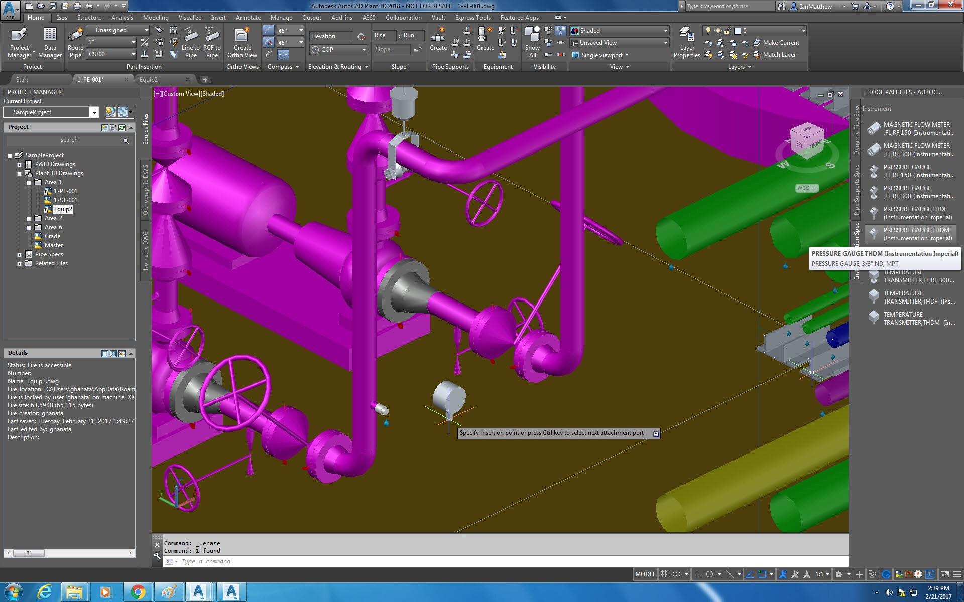 hight resolution of instrumentation tool palette