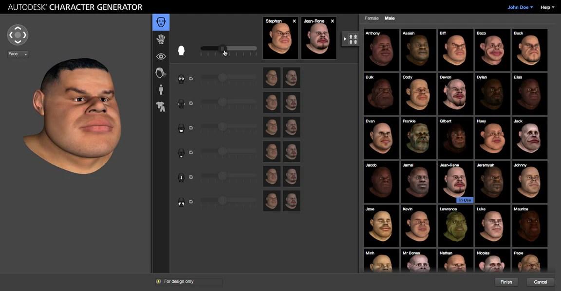 character generator 3d character