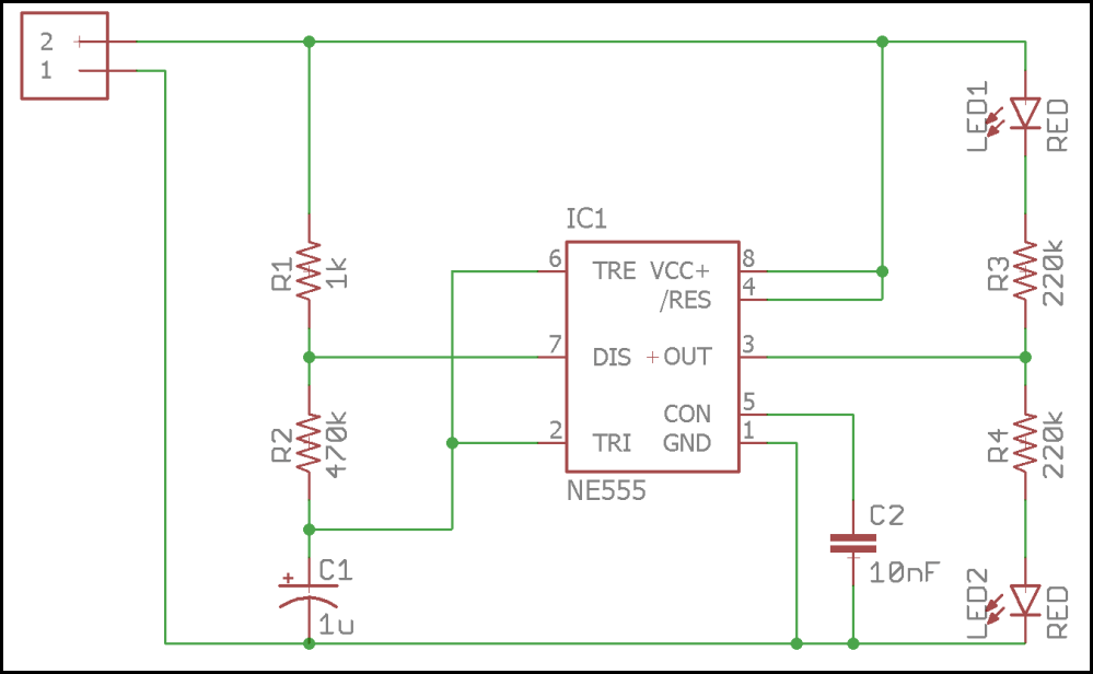 medium resolution of led flasher schematic