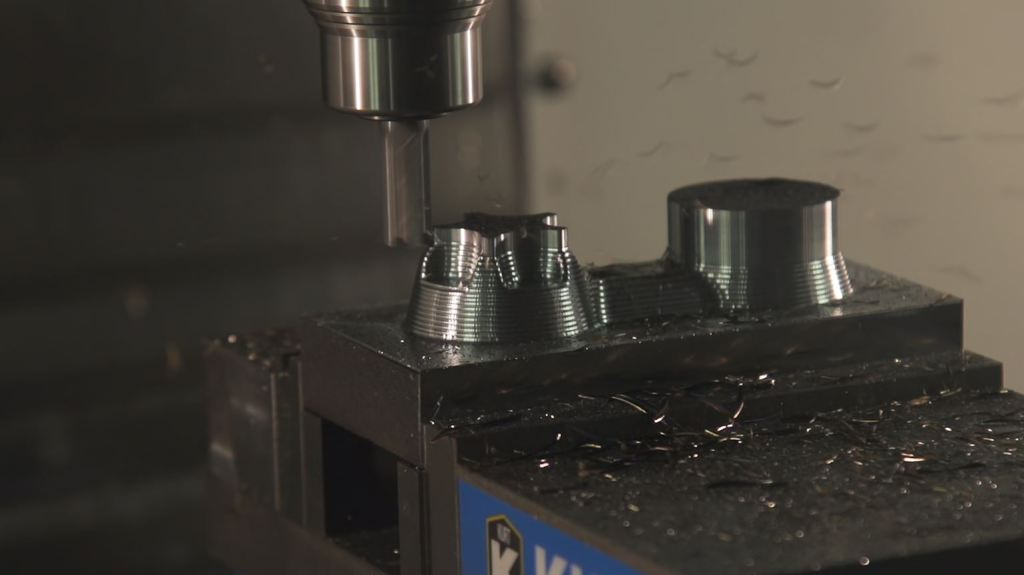 CNC mill machining metal