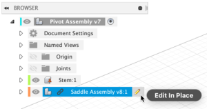 Edit in Place icons shown when hovering an XREF in the browser.