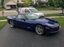 Blue Convertible Corvette
