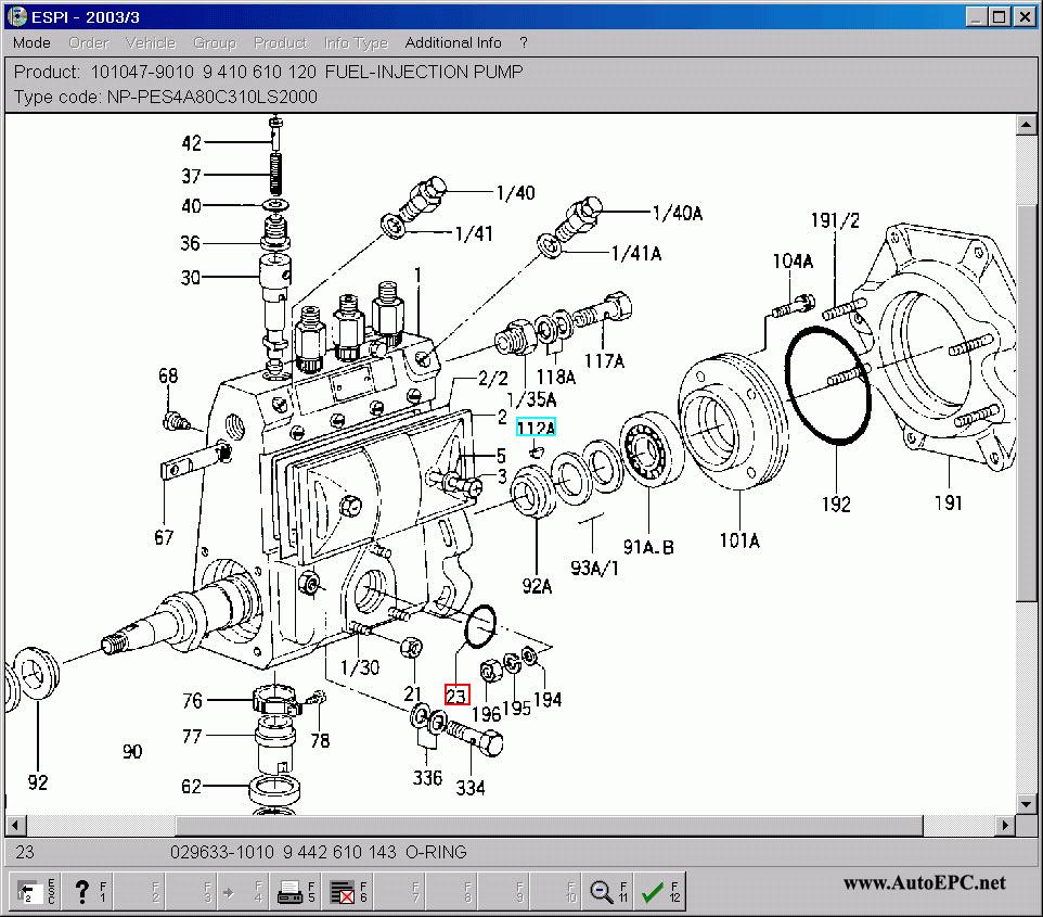 Bosch Zexel spare parts catalog ZD, original spare parts