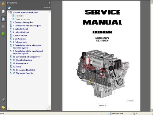 small resolution of repair manuals liebherr diesel engines d934 d936 service manual