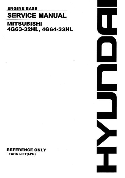 Mitsubishi 4G63-32HL, 4G64-33HL Diesel Engine Service