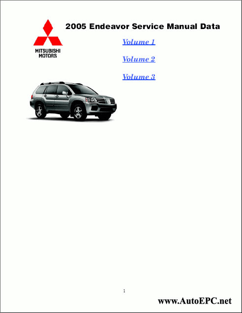 Mitsubishi Endeavor 2005 Service Manual repair manual