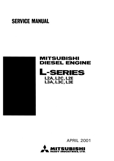 Mitsubishi L-series Diesel Engine repair manual Order