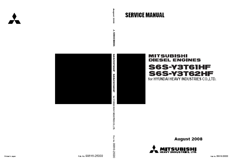 MITSUBISHI S6S-T Diesel Engine Service Manual repair