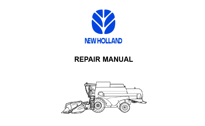 New Holland CS6080 Combine Workshop Service Repair Manual