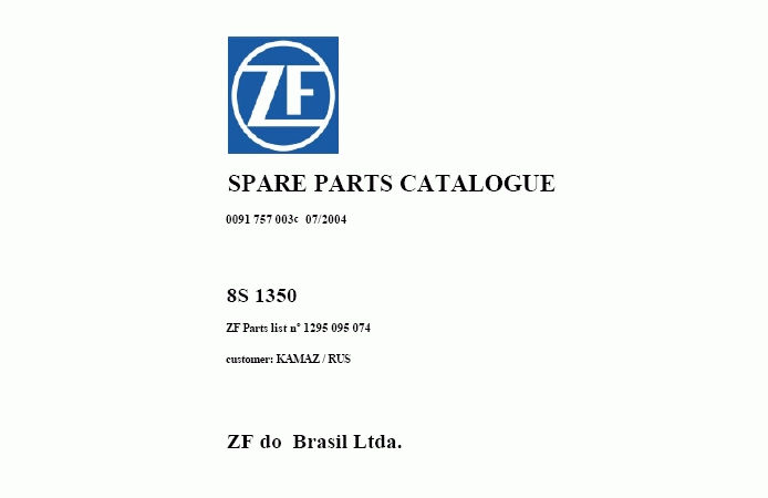 ZF KamAZ repair manual Order & Download