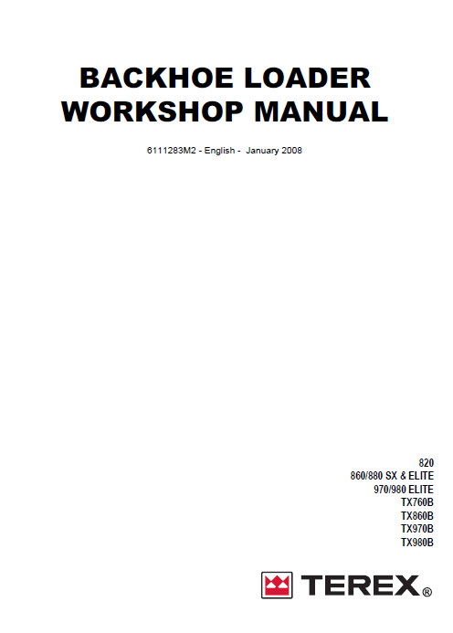 Fermec Terex Workshop Service Manual repair manual Order