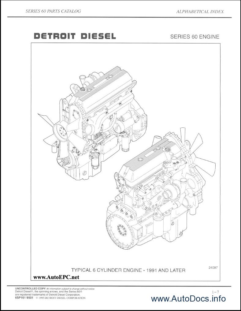 Detroit Diesel Series 60 parts catalog Order & Download