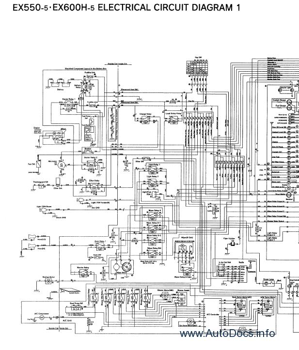 Hitachi EX550-5, EX550LC-5, EX600H-5, EX600LCH-5 Workshop