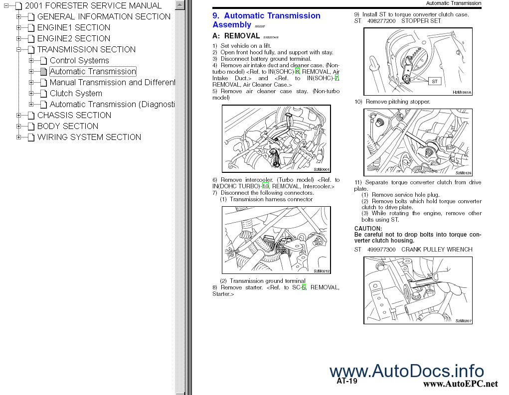 Subaru Forester 2001-2008 repair manual Order & Download